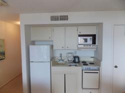 Click to enlarge image Kitchenette - Sandcastle Condo - $129,950Efficiency/1BA Condo, 486 sq ftPort Aransas, Texas