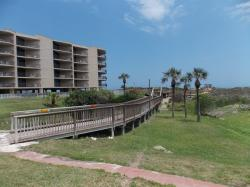 Click to enlarge image Community boardwalk - Sandcastle Condo - $129,950Efficiency/1BA Condo, 486 sq ftPort Aransas, Texas